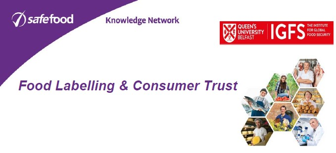 Food Labelling and Consumer Trust