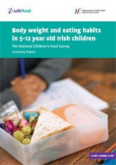 "Cover of the report ""Body Weight and Eating Habits in 5-12 year old Children"